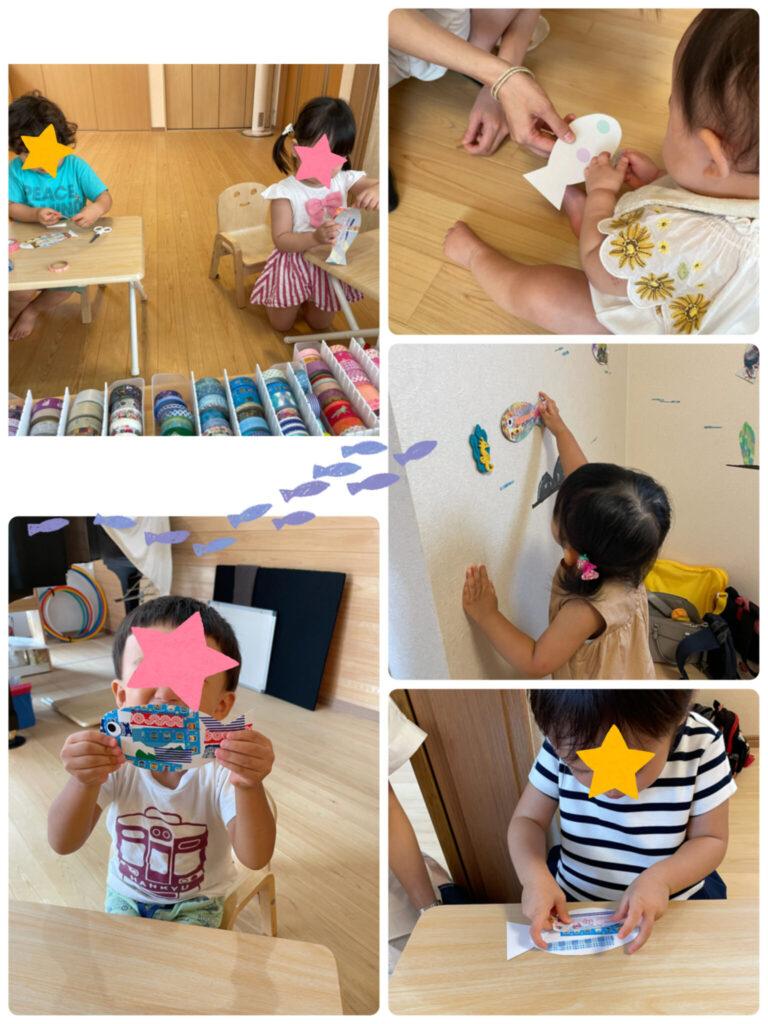マステアートのリトミックレッスンを受ける子供たち