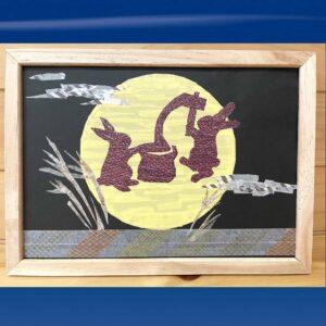 マステで作った中秋の名月の作品