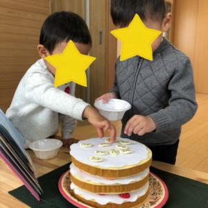 ケーキでリトミック